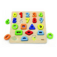 Puzzle, čísla a tvary