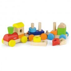 Farebný vláčik s blokmi
