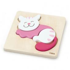 Prvé puzzle pre dieťa - mačka