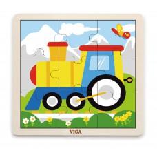 Puzzle na doske 9 prvkov - vlak