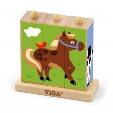 Kocky puzzle - farma